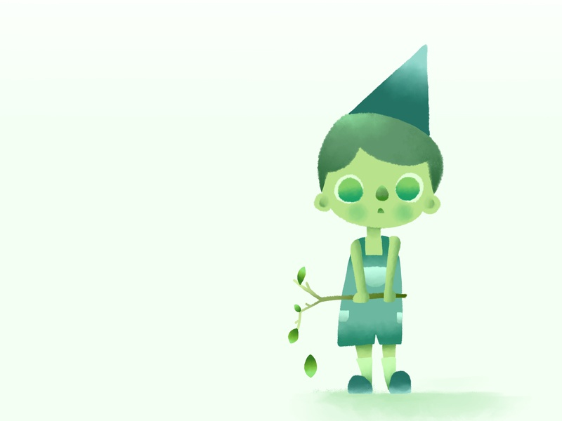 Green green colorful design queer character design character storybook colorful children photoshop illustration drawing concept art