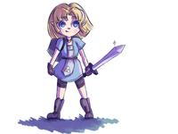Warrior Zelda doodle