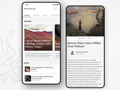 Renovatio App mobile theology web academic ui ux ux design ui design ux ui minimal neumorphism neumorphic white clean native app app design application