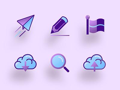 Gradient Icons clean iconography gradient illustration icon