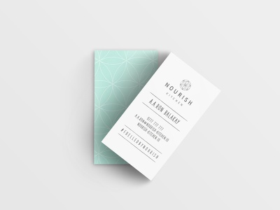 Nourish Kitchen – Business Cards web design type flat ux branding vector typography food design logo