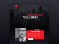 David McCourt – Homepage Concept
