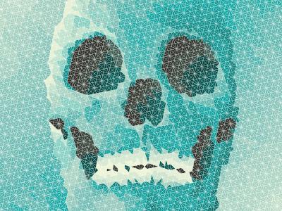 Geometric Skull - Human triangles geometric skull teeth shapes geometrical design triangle