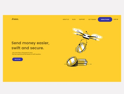 Transfer Money Fintech design