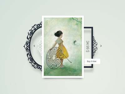 Art Shop jean james yiixii frame picture web app buy shop art design ui