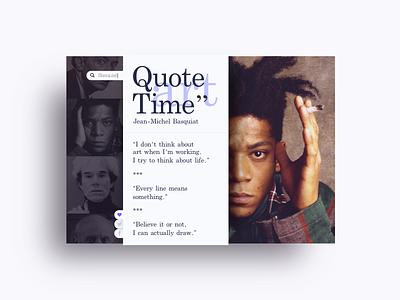 Quote Time sketch clean typography design basquiat mnml ui art widget quote