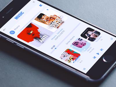 Music Player albums rihanna clean ux design player app ui music