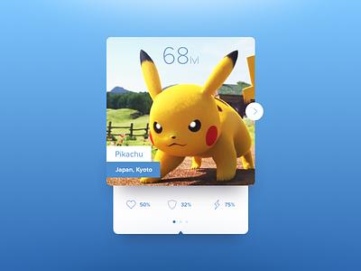Pikachu Card card ui widget pikachu pokemon