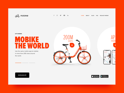 Mobike redesign product bicycle web mobike