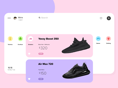 Shopping Web Page fashion sneakers clothing ecommerce store figma app shop web ux ui