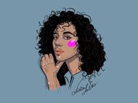 Curly crush Neon blush