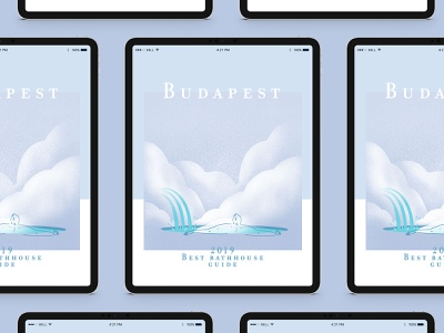 Budapest 2019 Best bath house guide — Illustrations photoshop procreate app poster editorial design editorial illustration illustration