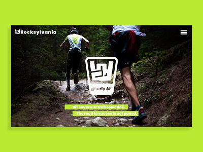 Rocksylvania — Brand development icon design icon probono charity rock running trail running trail ui logo visual identity design branding brand identity