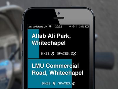 Bikes & Spaces boris bike app london