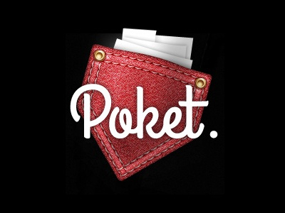 Poket [sic] red fabric texture papers
