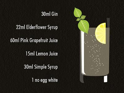 Drink simple vecor drink mint lemon