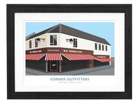 Corner shop illustration