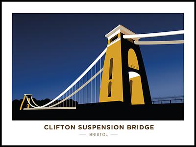 Clifton Suspension Bridge clifton suspension bridge illustration night