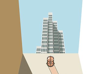 Tower Illustration print architectural modernism illustration tower embarcadero
