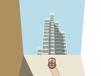 Tower Illustration print architectural modernism illustration tower embarcadero