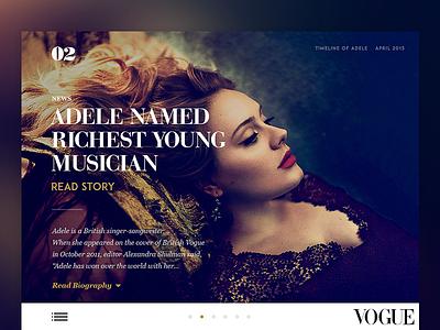 Vogue Timeline 2014 layout beauty grid adele design fashion lifestyle minimal news typography vogue hellowiktor