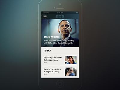 BBC Mobile App bbc tv news ios mobile app application hellowiktor psd free freebie iphone