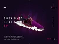 NikeLab Sock Dart Fleece - Microsite Concept