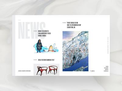 Zaha Hadid Design - news page