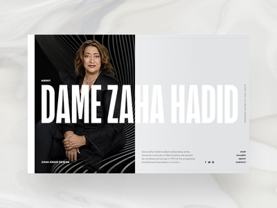 Zaha Hadid Design - about page