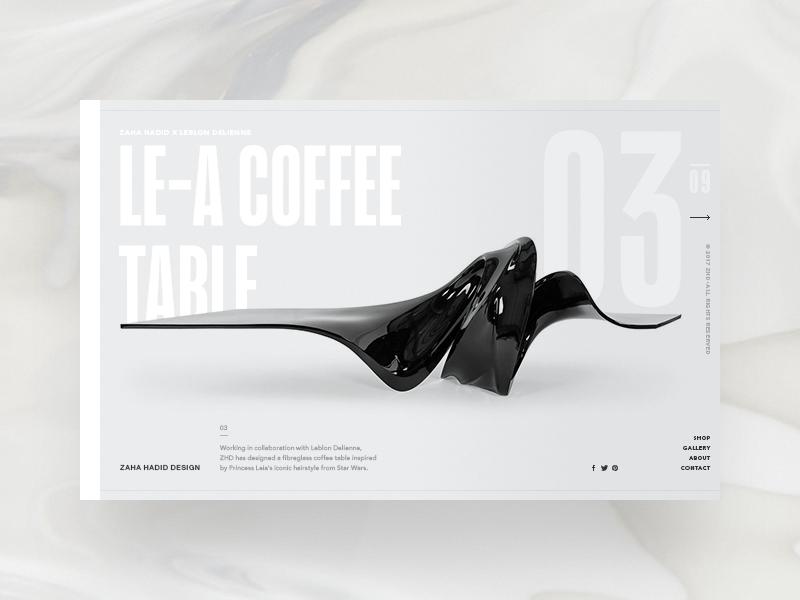 Zaha hadid design website product page 03 hellowiktor