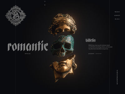 Billelis — homepage concept concept website web elegant romantic dark hellowiktor