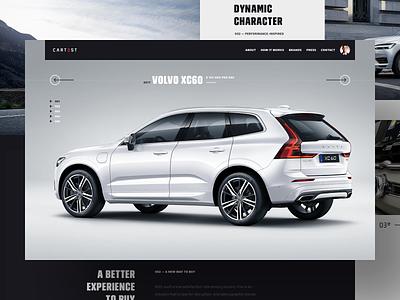 CarTest — project teaser web hellowiktor modern minimal car