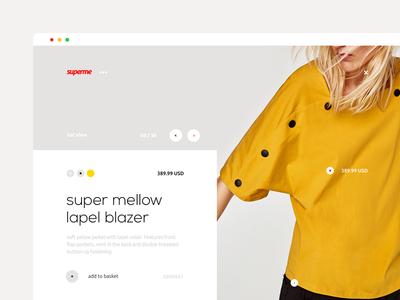 Dualism 10: Superme web design landing page website ux ui layout grid web clothing shop apparel supreme