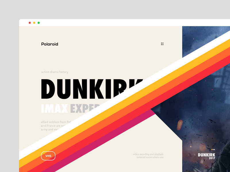 Dualism 14: Polaroid web design landing page website ux ui layout grid web color vhs purple design