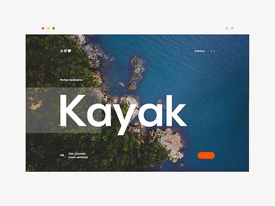 Kayak navigation travel kayak web design flat layout ui ux website landing page web design