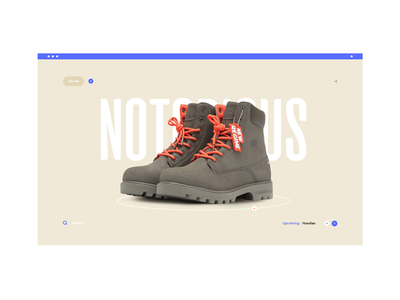 Regime store footwear shop layout landing page design blue clean ux ui website web