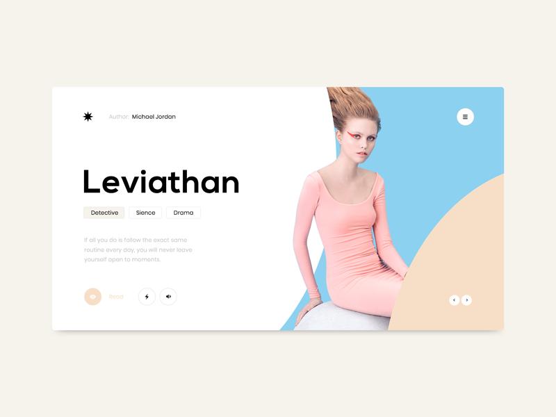 :03 website ux ui profile portfolio layout page landing colors design clean blue