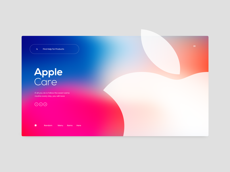 #3 website web ux ui search layout page landing apple design clean news