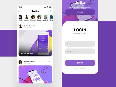JETTA | Social App UI ui designer ui  ux uiux social network ui design uidesign ui flat design app ui flat minimal social apps socialmedia social social app ui social ui social app