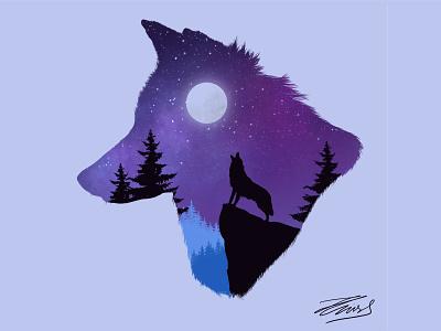 Wolf illustration adobe illustrator procreate art procreate flat design app ui minimal flat illustration art illustrations illustration illustraion illustrator wolfman wolf wolf illustration