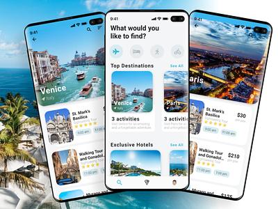 Travel App UI travel app ui design travel ui travel agency travel app ui travel app ui designs ui designer ui deisgn uiux ux flutter ui flutter app ui flutter ui design uidesign ui app ui flat design minimal flat