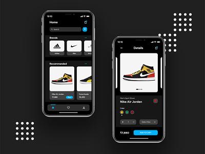 Shoes Store | App UI design uiux ui design flat design flat minimal simple uidesign ui app ui shore store app shoes store shoes app ui shoes app shoes