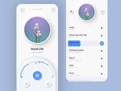 Music App | Neomorphism | Soft UI neomorphic ui design uidesign uiux ui app icon app design music artwork music app design app ui music app ui music art music app neomorphism soft ui