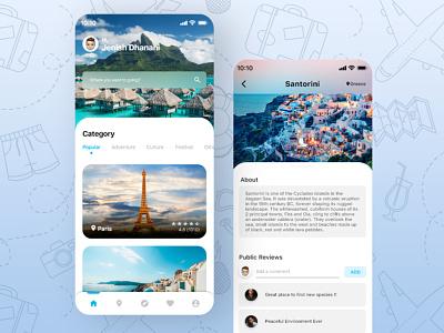 Travel App UI ui designer uidesign uiux ui design flat design flat ui app ui travelling traveling travel app travel travel app ui