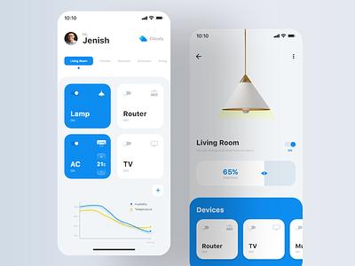 Home Automation App UI graphic design ui designers ui uiux design branding minimal ui designer uidesign automation app ui design app ui