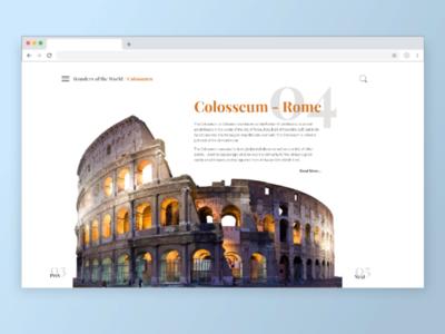 Wonders of the world.minimal Web UI. XD