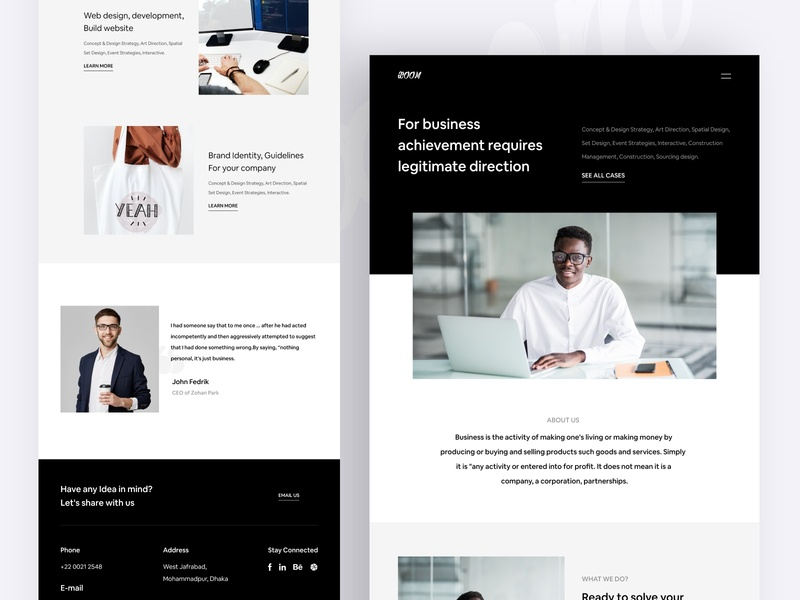 Xoom Landing Page minimalist landing page development landingpage business agency xd to html psd to html front-end development frontend development frontend design frontend html template html css html 5 html uiux designer uiux ux ui 2020 trend 2020