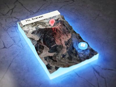 Mt. Everest - Night   Blender artwork blender 3d c4d navigation maps virtual reality mixed reality 3d art art blender3d blender ar