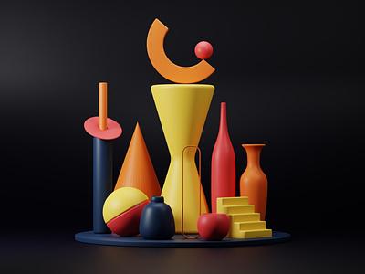 Stability 3d artist satisfying objects render blender minimal digital geometry blender 3d 3d art 3dart 3d design