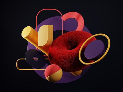 Balance branding design geometric art color palette minimal geomtery c4d blender 3d artist 3d art 3dart 3d